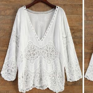 White lace coverup. Size small.